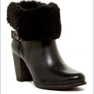 Ugg Jayne Fold Over Ankle Boots W/Fur Size 7 New
